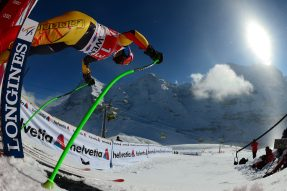 Canada's Jan Hudec takes the start during the Men's World cup Downhill training, on January 16, 2012 in Wengen . AFP PHOTO / OLIVIER MORIN        (Photo credit should read OLIVIER MORIN/AFP/Getty Images)